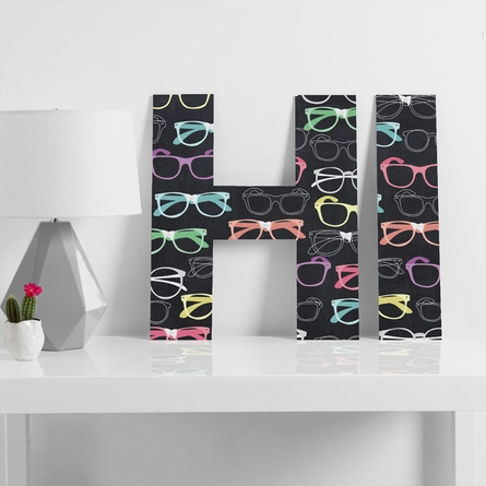 Glasses Decorative Letters