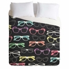 Glasses Lightweight Duvet Cover
