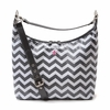 Glazed Chevron Hobo Diaper Bag