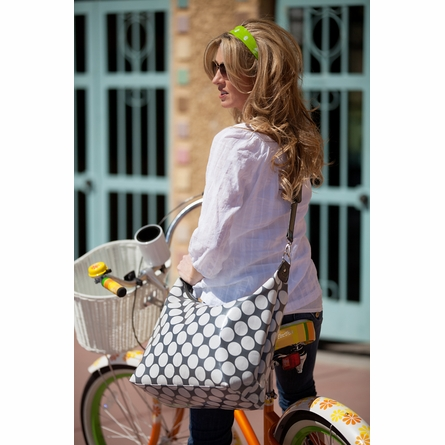 Glazed Polka Dot Hobo Diaper Bag