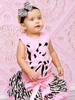 Glitzy Zebra Love Tutu Set