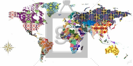 Global Patterns Canvas Wall Art