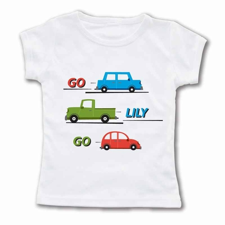 Go Car Go Personalized T-Shirt