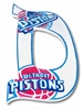 Go Pistons Hand Painted Wall Letters