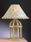 Gold Birdcage Lamp