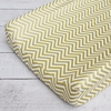 Gold Chevron Changing Pad Cover
