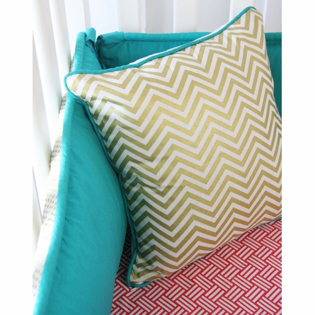 Gold Chevron Crib Bedding Set