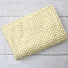 Gold Chevron Crib Blanket