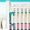 Gold Chevron Crib Bumper