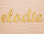 Gold Cursive Connected Wall Letters