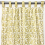 Gold Damask Window Panels