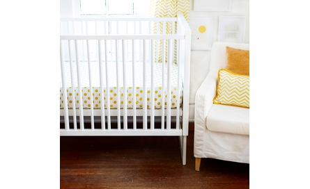 Gold Glitter Polka Dot Crib Sheet