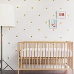 Gold Mini Dots Wall Decal