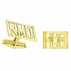 Gold Monogram Cuff Links - Block
