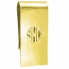 Gold Monogram Money Clip - Block