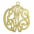 Gold Monogram Necklace - Script