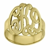 Gold Monogram Ring - Script