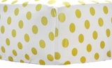 Gold Polka Dot Crib Sheet $(+54.00)