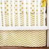 Gold Rush Crib Skirt