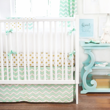 Gold Rush Mist Crib Bumper