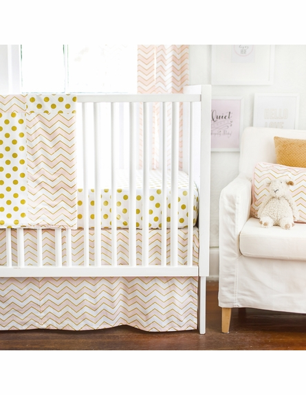 Gold Rush Pink Baby Blanket