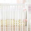 Gold Rush Pink Crib Bumper