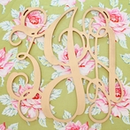 Gold Script Wall Monogram