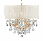 Gold Steel Chandelier with Swarovski Strass Crystals