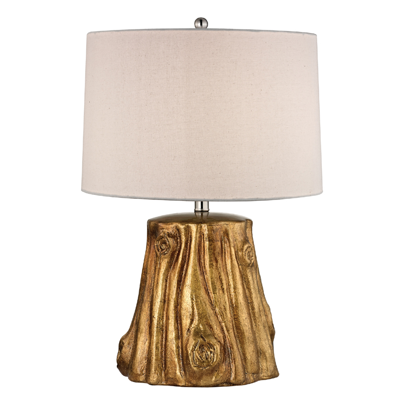 ... Kids Lights > All Light Fixtures > Gold Tree Trunk Ceramic Table Lamp
