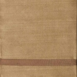 Golden Beige Silk with Chocolate Trim - A