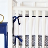 Golden Boy Navy Crib Bumper