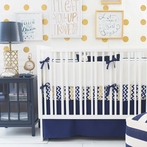 Golden Days in Navy Crib Bedding Set