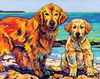Golden Retriever Dogs Wall Art
