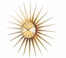 Golden Sunshine Wall Clock