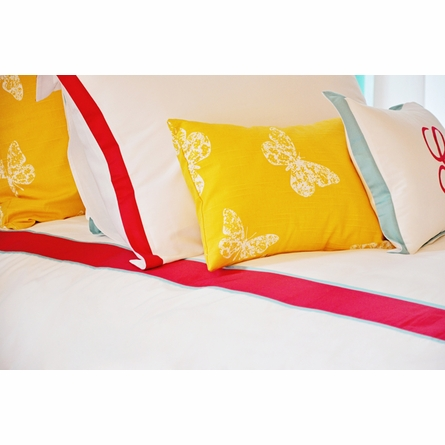 Goldenrod Butterfly Boudoir Pillow