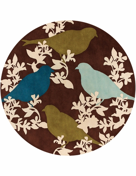 Goldfinch Chocolate Aqua Green Thomaspaul Rug