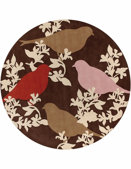Goldfinch Chocolate Taupe Persimmon Thomaspaul Rug