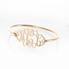 24k Gold-Plated Floating Monogram Bangle