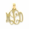 Goldtone Petite Floating Monogram Pendant