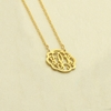 24k Gold-Plated Petite Flourish Monogram Necklace