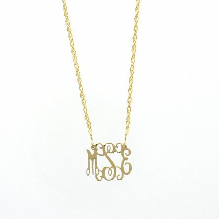 Goldtone Petite Monogram Necklace