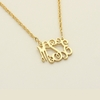 24k Gold-Plated Petite Monogram Necklace