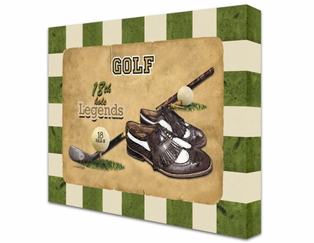 Golf Legends Canvas Reproduction