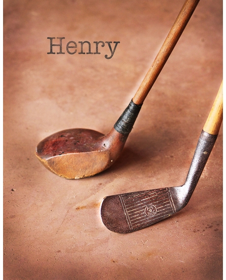 Golf Personalized Framed Art Print