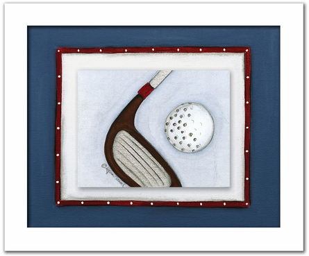 Golf Personalized Framed Canvas Reproduction