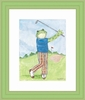 Golfing Froggy Framed Lithograph