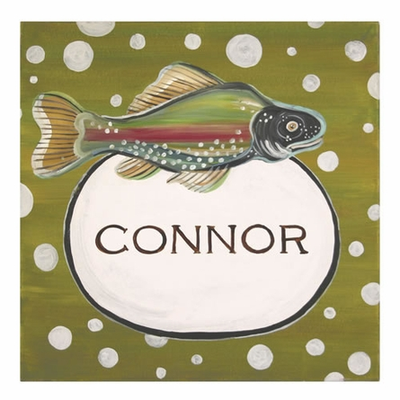 Gone Fishing Canvas Wall Art