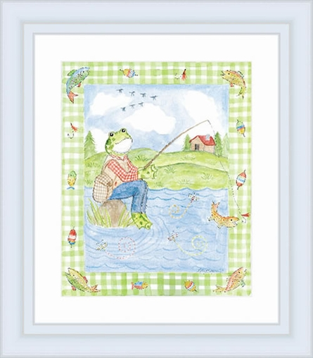 Gone Fishing Framed Lithograph