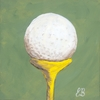Gopher Golf Ball Canvas Reproduction