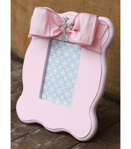 Grace Pink Scalloped Picture Frame